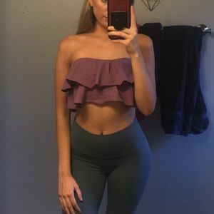 Urban Outfitters purple tub top with ruffles